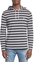 Lacoste Men's Stripe Long Sleeve Hooded T-Shirt