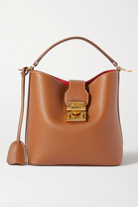 Mark Cross Murphy Small Textured-leather Bucket Bag - Tan