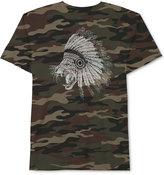 JEM Men's Leopard with Headress Camo Print T-Shirt
