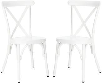 Safavieh Axton Side Chair/Stackable/Matte White
