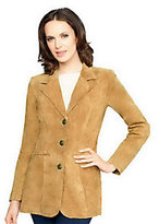 Denim & Co. As Is Washable Suede Button Front Jacket with Pockets