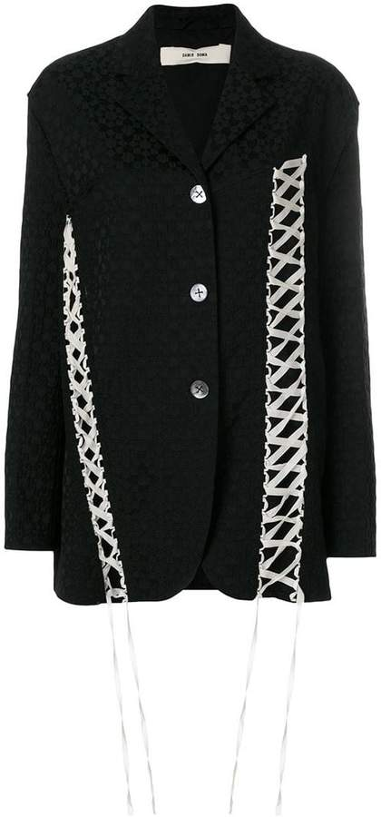 Damir Doma Jarn lace-up jacquard blazer
