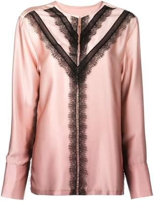 Jason Wu contrast lace-detail blouse