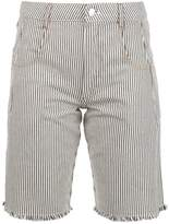 Alexander Wang striped denim shorts