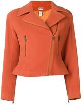 Alaia Pre Owned back belt cropped jacket