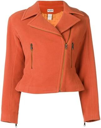 Alaia Pre-Owned back belt cropped jacket