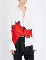 Haider Ackermann Bolivar Silk-georgette Shirt
