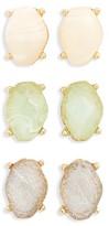 BP Women's 3-Pack Crystal Stud Earrings