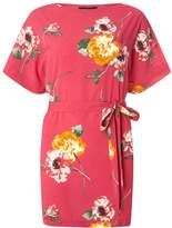 Dorothy Perkins Pink Floral Tie Tunic