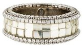 Erickson Beamon Resin & Crystal Bangle Bracelet