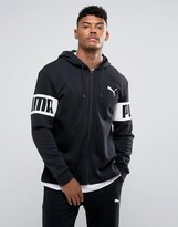 Puma Rebel Full-Zip Pullover In Black 59245501