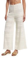 Mara Hoffman Crochet Wide-Leg Coverup Pants