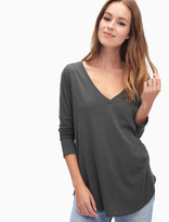 Splendid Vintage Whisper Long Sleeve V Neck Top