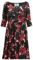 Prada Frankenstein-print Cotton Knee-length Dress - Womens - Black Multi