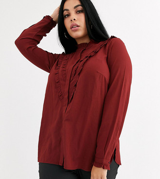 Junarose high neck ruffle blouse