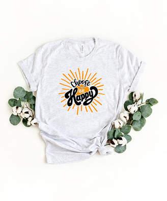 Ash Simply Sage Market Women's Tee Shirts  & Yellow 'Choose to Be Happy' Crewneck Tee - Women