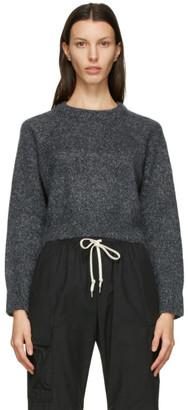 John Elliott Grey Cashmere Cropped Sweater