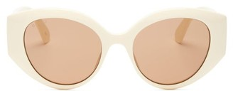 Gucci Quilted Cat-eye Acetate Sunglasses - Ivory
