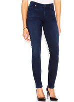 7 For All Mankind Mid-Rise Luxe Rich Blue Wash Skinny Jeans