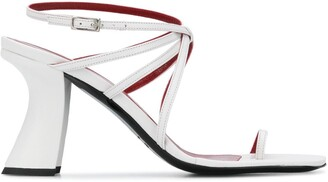 BY FAR Leather Strap Detail Sandals