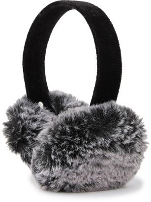 Surell Faux Fur & Velvet Earmuffs