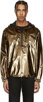 Saint Laurent Gold Lamé Windbreaker Jacket