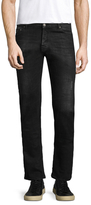 The Kooples Whiskered Straight Fit Cotton Jeans
