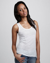 NM Luxury Essentials Scoop-Neck Slub Tank