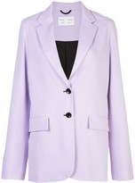 Proenza Schouler White Label contrast buttons single breasted blazer