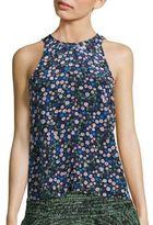 Rebecca Taylor Juliet Silk Floral-Print Tank Top