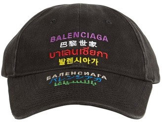 Balenciaga Multi Languages Logo Baseball Cap