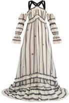 Erdem Jay cotton and silk-blend organdy gown