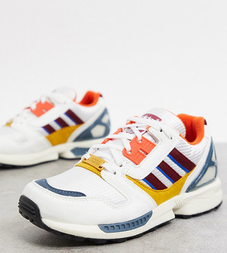 adidas ZX 8000 Happy Camping trainers in white exclusive to ASOS