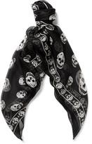 Alexander Mcqueen - Skull-patterned Silk Scarf