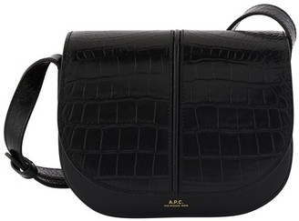 A.P.C. Betty bag in crocodile embossed leather and velvet