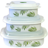 Corelle Coordinates Microwave Cookware and Storage Set with Bamboo Leaf Design