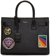 Saint Laurent Black Multi-Patch Sac De Jour Tote