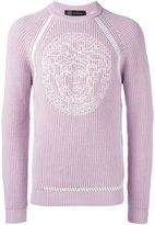 Versace embroidered Medusa sweater