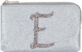 Accessorize Glitter E Alphabet Ziptop Coin Purse