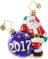 Christopher Radko Santa Having A Ball 2017 Little Gem Ornament