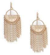 Catherine Malandrino Chain Linked Tassel Drop Earrings