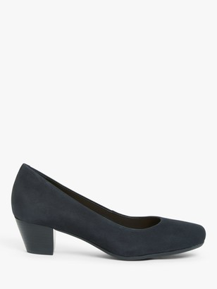 John Lewis & Partners April Low Block Heel Court Shoes