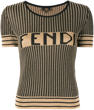 Fendi Pre-Owned Pequin pattern knitted top
