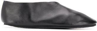 Jil Sander V-vamp leather slippers