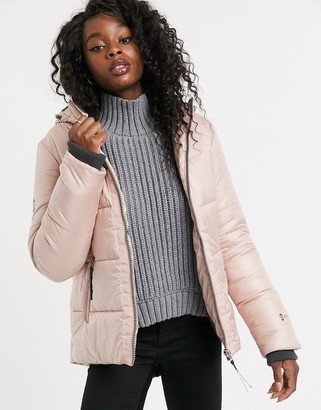 Free Country Pearlescent Coat In Pink