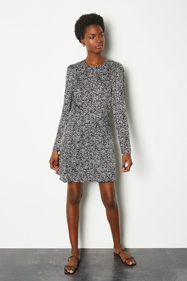 Karen Millen Printed ruched long sleeve dress