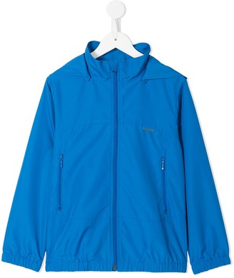 Familiar Hooded Rain Jacket