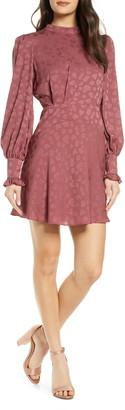 Ever New Floral Jacquard Long Sleeve Minidress