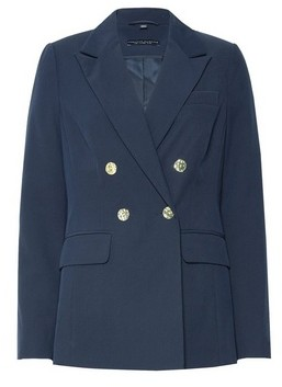 Dorothy Perkins Womens Navy Double Breasted Blazer