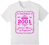 Kids Vintage 2001 Sweet Sixteen Years 16th Birthday Hot Pink 12